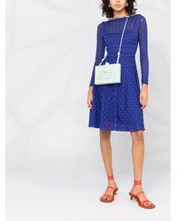Missoni セミシアー ロングスリーブドレス - ブルー