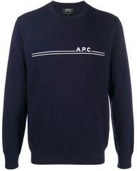 A.P.C. - ロゴ クルーネック プルオーバー - Lyst