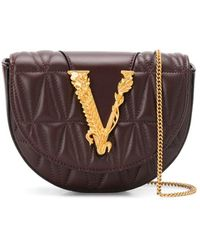 Versace Quilted Virtus Belt Bag - Brown