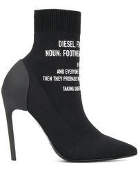 DIESEL Soklaarzen Met Logo - Zwart