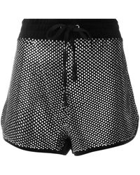 Juicy Couture Swarovski Embellished Velour Shorts - Black
