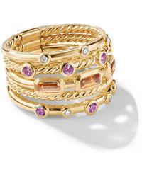 David Yurman Novella Apessartite Ring Met Saffier En Diamant - Metallic