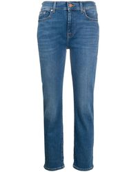 7 For All Mankind Jeans mit geradem Bein - Blau