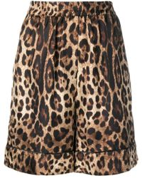 Dolce & Gabbana - Leopard Print Shorts - Lyst