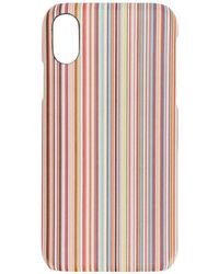Paul Smith Striped Print Case - マルチカラー