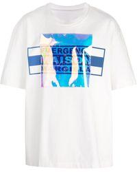 Maison Margiela T-Shirt im Layering-Look - Weiß