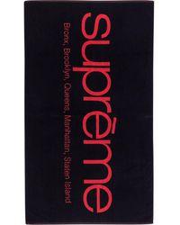 "Supreme Five Boroughs Towel """"ss21"" - Black"