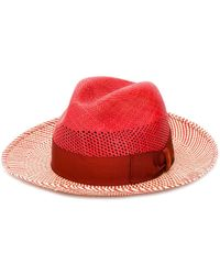 Borsalino - Striped Straw Hat - Lyst
