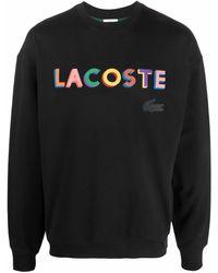 Lacoste L!ive L!VE Sweatshirt mit Logo-Stickerei - Schwarz