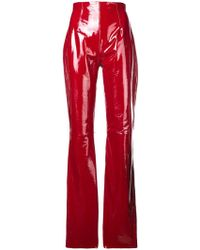 16Arlington - Vinyl Flared Trousers - Lyst