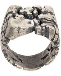 Tobias Wistisen Broken Glass Chevaliere Ring - Metallic