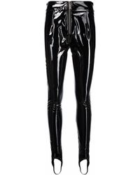 John Richmond High-shine Slim-fit Trousers - Black