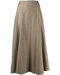 Erika Cavallini Semi Couture チェック スカート - マルチカラー