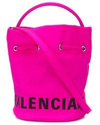 Balenciaga ウィール バケットバッグ Xs - ピンク
