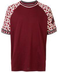 Dolce & Gabbana ロゴプリント Tシャツ - レッド