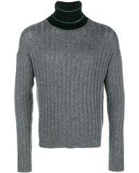 Prada リブニット セーター - グレー