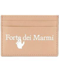 Off-White c/o Virgil Abloh Slogan-print Leather Cardholder - Brown