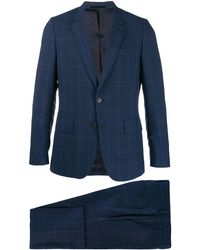 Paul Smith Checked Formal Suit - Blue