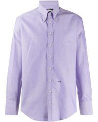 DSquared² Logo Button-down Shirt - Purple