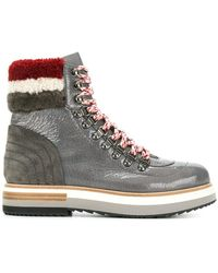 Fabi - Faux Shearling Trim Boots - Lyst