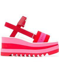 Stella McCartney Wedge Logo Sandals