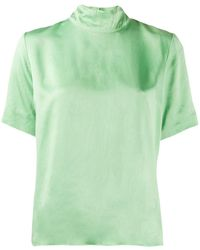 Forte Forte Top con maniche corte - Verde