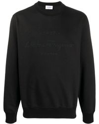 Ferragamo ロゴ スウェットシャツ - ブラック