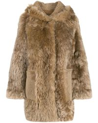Meteo by Yves Salomon - Curly Textured Coat - Lyst