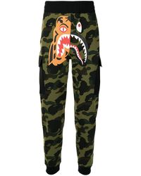 A Bathing Ape Camouflage-print Track Trousers - Green