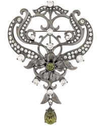 Alberta Ferretti - Crystal Embellished Brooch - Lyst