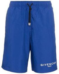 Givenchy - Logo Printed Swim Shorts - Lyst