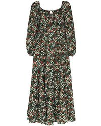 RIXO London Cameron Dress - Green