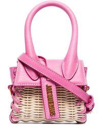 Jacquemus Плетеная Мини-сумка Le Chiquito - Розовый