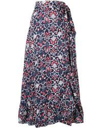 Étoile Isabel Marant フローラル スカート - ブルー