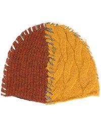 Marni Stitch-detailed Beanie - Yellow
