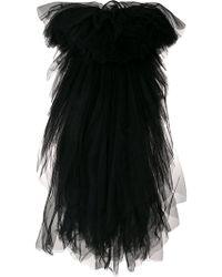 Moschino Asymmetric Tulle Skirt - Black