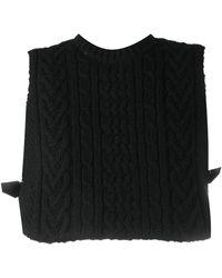 Comme des Garçons Knitted Crop Vest Top With Harness Back - Black