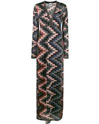M Missoni Платье Макси С V-образным Вырезом - Черный