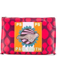 PS by Paul Smith - チータプリント クラッチバッグ - Lyst