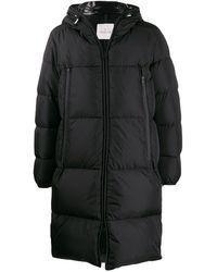 Moncler ロゴ パデッドコート - ブラック