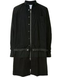 Sacai - レイヤード シャツジャケット - Lyst