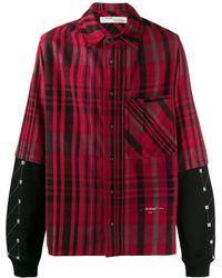 Off-White c/o Virgil Abloh Overhemd Met Jersey Mouwen - Rood