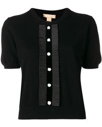 Michael Kors - Button Front Knitted Top - Lyst