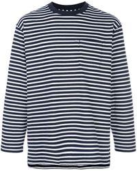 Engineered Garments ストライプ Tシャツ - ブルー