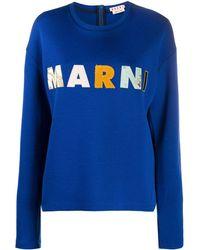 Marni Толстовка С Нашивкой-логотипом - Синий