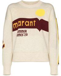 Étoile Isabel Marant Jersey Kleden con logo - Multicolor