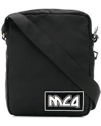 McQ ロゴ メッセンジャーバッグ - ブラック