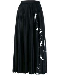 Valentino Vltn プリーツスカート - ブラック