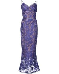 Marchesa notte - Embroidered dress - Lyst