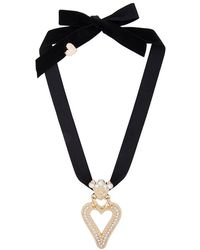 Saf Safu | Heart Ribbon Necklace | Lyst